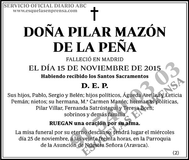 Pilar Mazón de la Peña